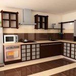 Комбинированный пол на кухне из плитки и ламината: фото в интерьере