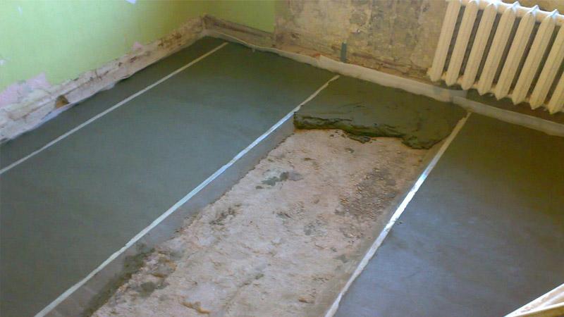 стяжка полов цементным раствором