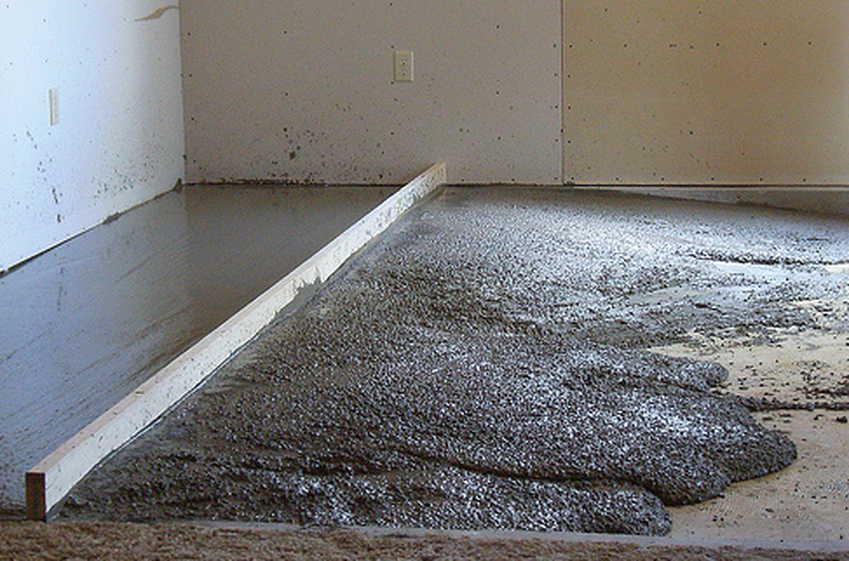 Заливка полов песчано цементным раствором купить миксер бетона