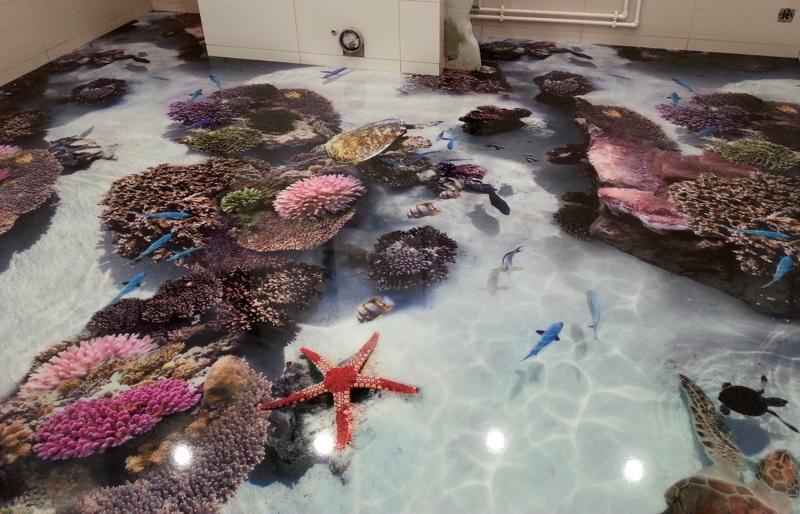 Наливные полы в ванне своими руками