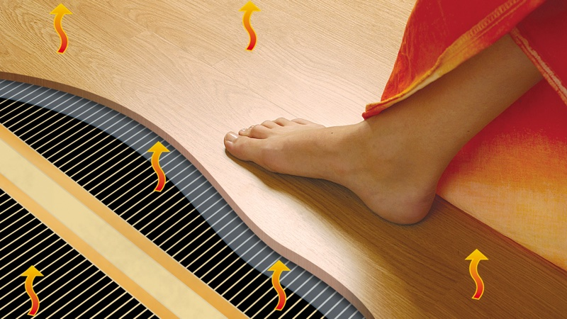 пленочный теплый пол под ламинатом