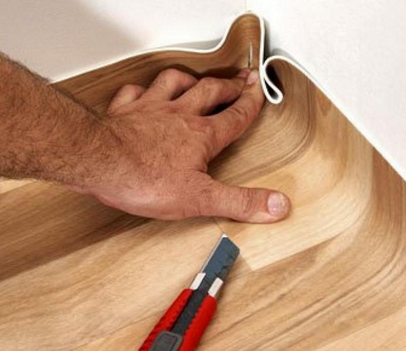 как постелить линолеум своими руками