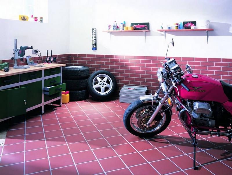 напольная плитка в гараже