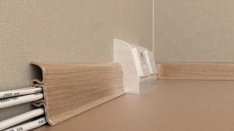Размеры плинтуса для пола с кабель-каналом