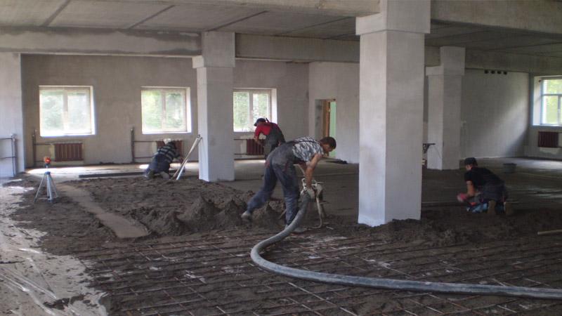 Технология заливки бетонного пола на армированное основание