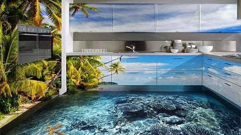 Дизайнерский эпоксидный наливной пол