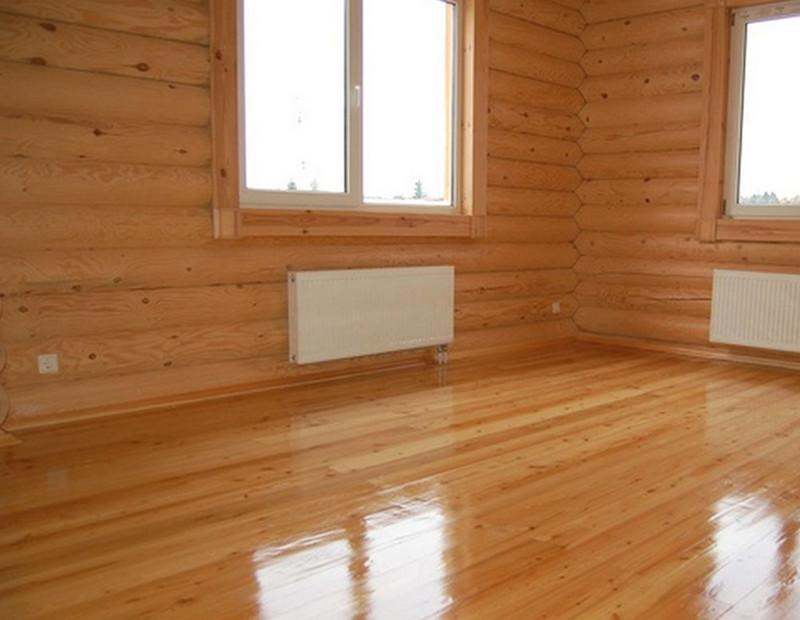 деревянные полы в деревянном доме