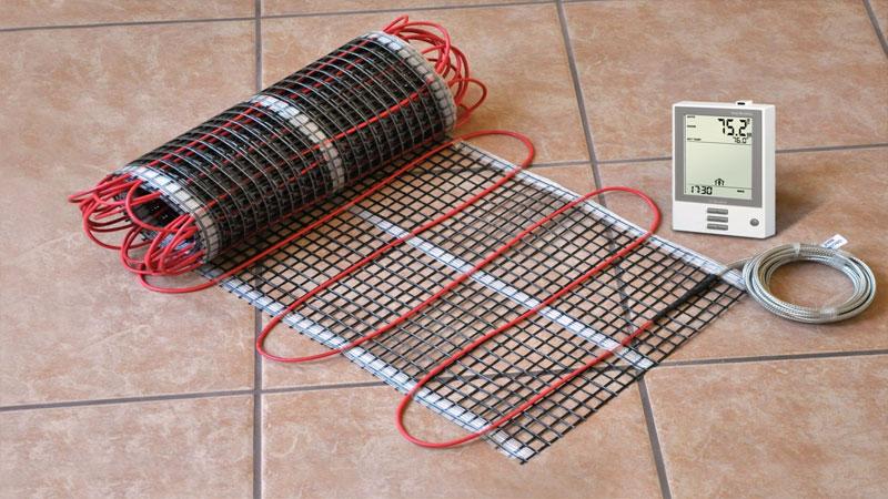 Укладка электрического теплого пола под плитку