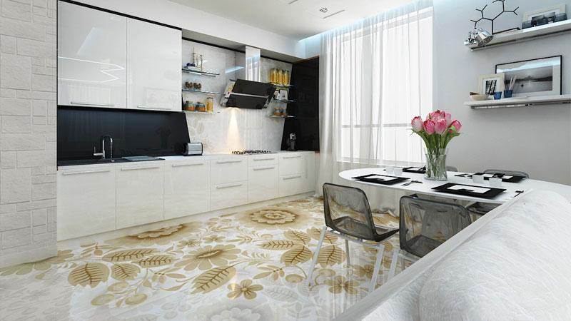 Чем лучше покрыть пол на кухне