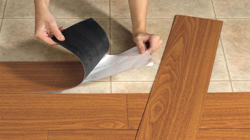 Самоклеющееся виниловое напольное покрытие