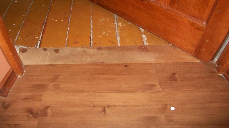 Ламинат на фанеру может быть уложен на деревянное основание