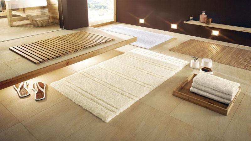 Фото напольной плитки для ванной с ковриком