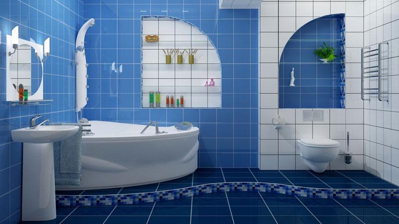 Сочетание мозаики и классической напольной плитки