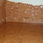 Фото пробкового пола и стен